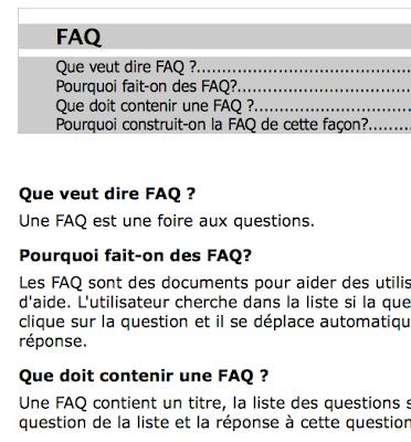Exemple de FAQ