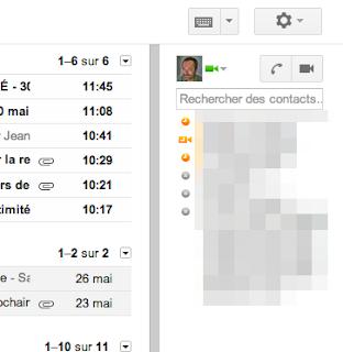 Hangout dans gmail